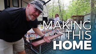 RV CAMPSITE SETUP AND DECORATING | How We Make A Campground Home