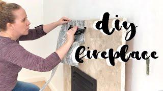 DIY FIREPLACE MAKEOVER || RENTERS RENOS EP 3