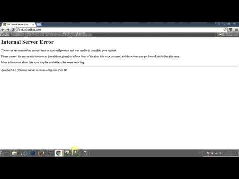 Video codeigniter problem  : 500 Internal server error