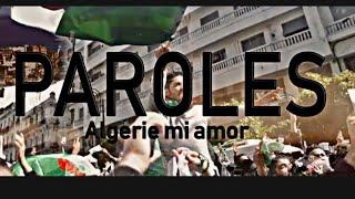 L'Algérino   Algérie Mi Amor (lyrics  كلمات)