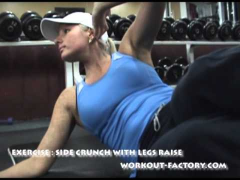 SIDE CRUNCH WITH LEGS RAISE