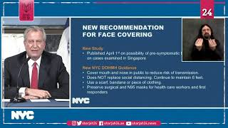 NY mayor advises residents to wear 'face covering' when going out