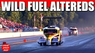 2017 Funny Car Nationals Fuel Altereds Drag Racing 1/4 Mile Drastic Plastic Video