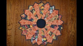 QUILT AS YOU GO ~ Dresden Plate Table Topper