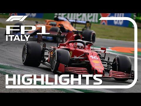 F1第14戦イタリアGP(モンツァ)FP1ハイライト動画