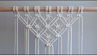 DIY Macrame Tutorial - Starting Your Work! Overlapping Square Knot Pattern
