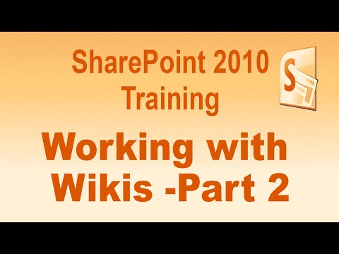 Microsoft SharePoint 2010 Training Tutorial -- Working with Wikis ...