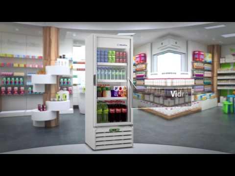 Refrigerador vertical com controlador eletrônico (VB40R) - METALFRIO