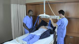 Transfer to Head of Bed – Repositioning Sling and Ceiling Lift
