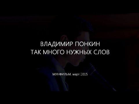 Владимир ПОНКИН - Так много нужных слов