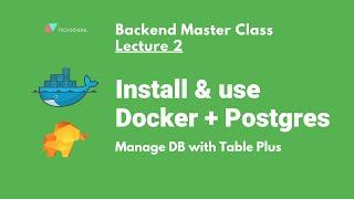 [Backend #2] Install & use Docker + Postgres + TablePlus to create DB schema