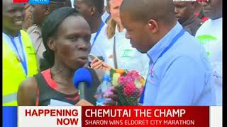 Sharon Chemutai wins the Eldoret City marathon