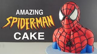 AMAZING 3D SPIDERMAN CAKE How To Cook That Ann Reardon fondant kids birthday cake