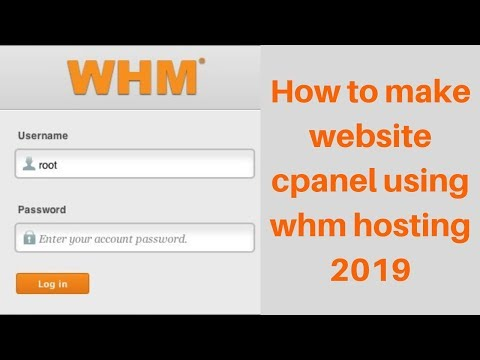 How to make website cpanel using whm hosting 2019