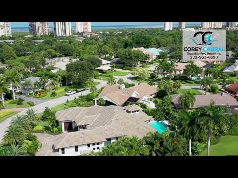 Pelican Bay Woods Naples Florida 360 degree video fly over