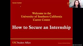 How to Secure an Internship Workshop
