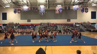 NJFL Cheer Exhibition 2015 Eastside Crusaders Jr. Cheer