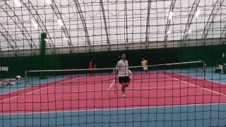 テニスマッチポイント敗退