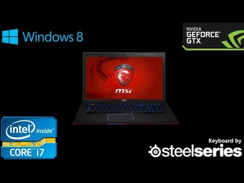NEW 2013  MSI GE70 2OE Gaming Laptop - Hands On & Review (1080p HD)