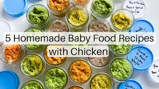 Homemade Baby Food With Chicken | Baby Food Recipes For 6months And Above