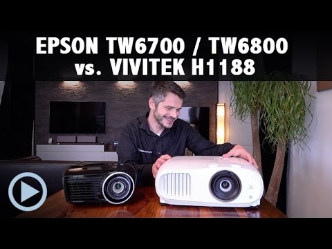EPSON TW6700 6800 vs. VIVITEK H1188 Black Thunder Test