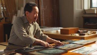 Unintentional ASMR 🖼️ Traditional Japanese Printmaking (brushing, Explanations)
