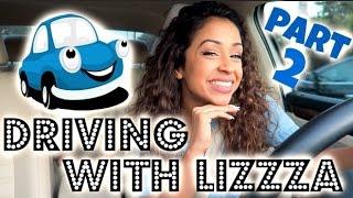 CRAZY DRIVER?! DRIVING WITH LIZZZA PART 2!! | Lizzza