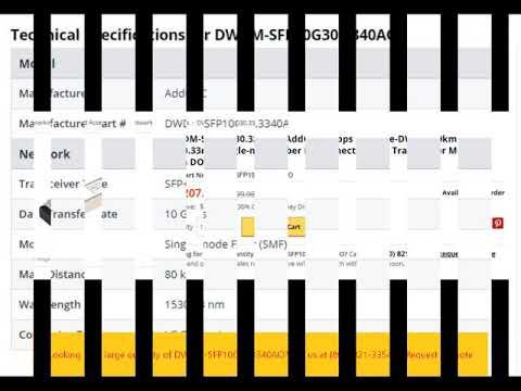 DWDM-SFP10G30.3340AO AddOn 10Gbps 10GBase-DWDM 80km 1530.33nm Single-mode Fiber LC Connector SFP+