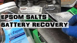Recover Lead Acid Batteries | Desulfate using Epsom Salts
