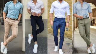 Mens Fashion Upgrade - 2019 | Latest Stylish Formal Dress With White Sneakers Combination