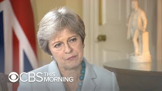 British Prime Minister Theresa May says she trusts Trump - Video Youtube