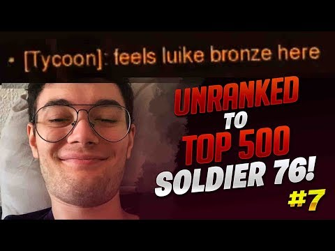 Unranked To Top 500 Soldier 76 Only! - Ep  7 - Dafran