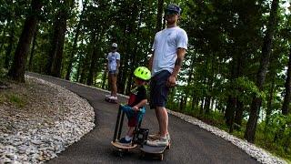 Baby Skates on Longboard