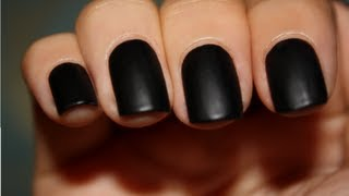 Permanent Black Nails Using Black Hair Dye O_o