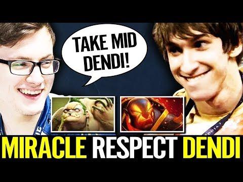 Dendi And Miracle DANCING in Enemy FOUNTAIN Base - Unfair ranked gameplay Dota 2