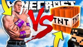 JOHN CENA VS TNT?! MINECRAFT MODDED TNT WARS