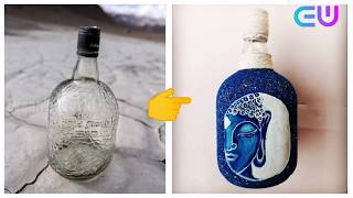 DIY | Glass Bottle Craft 13| Best Out Of Waste | Home Decoration Idea | Hand Painted Bottle