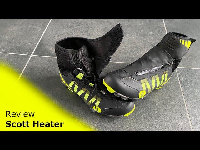 Видео Велотуфли Scott MTB Heater GORE-TEX (Black/Sulphur Yellow)