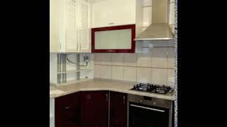 Кухня фото  № 86 фасад постформинг цвет Белая - бордовая. от компании Фаберме - видео 2