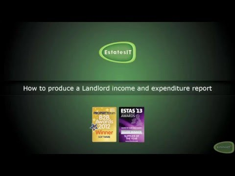 How to produce a Landlord Income & Expenditure report