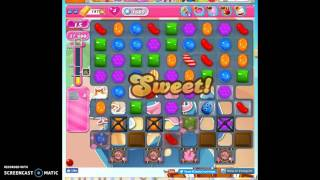 Candy Crush Level 1609 help w/audio tips, hints, tricks