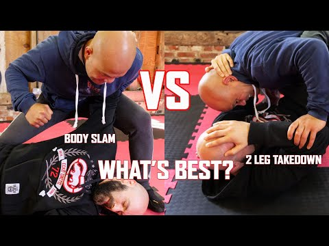 Bodyslam VS 2 leg takedown in Self defence combat which one is more effective? | Master Wong