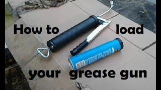 How to load grease into a grease gun