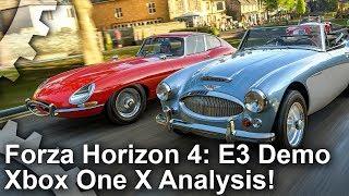 [4K] Forza Horizon 4 E3 Demo: Hands-On Xbox One X Analysis!