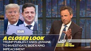 Trump Publicly Asks Ukraine to Investigate Biden Amid Impeachment: A Closer Look
