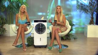 Sichler Haushaltsgeräte Sprühnebel-Standventilator, Anti-Insekten, MP3-Player, 90 W, Ø 30 cm