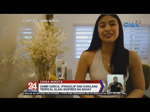 [GMA]  24 Oras: Gabbi Garcia, ipinasilip ang kanilang tropical glam-inspired na bahay