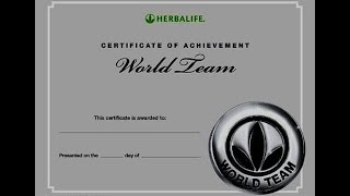 How to became a world team member in Herbalife (2020).