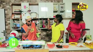 RICO SWAVEY PHONES ALEX ON BOYS CAN COOK TV SHOW