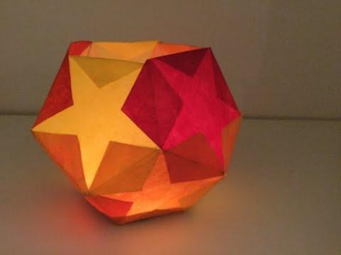 DIY Fünfeck Laterne aus Papier, Bastelanleitung | DIY Advents- und Weihnachtsdeko